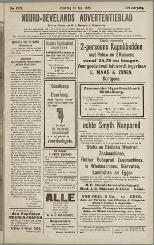 Noord-Bevelands Nieuws- en advertentieblad 1926-01-30