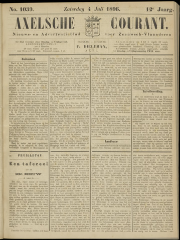 Axelsche Courant 1896-07-04