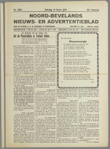 Noord-Bevelands Nieuws- en advertentieblad 1948-03-13