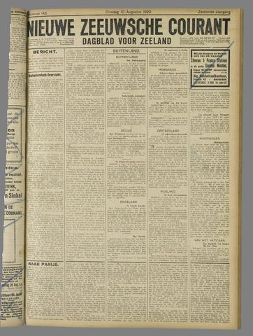 Nieuwe Zeeuwsche Courant 1920-08-10