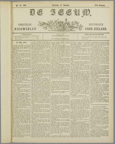 De Zeeuw. Christelijk-historisch nieuwsblad voor Zeeland 1896-11-12
