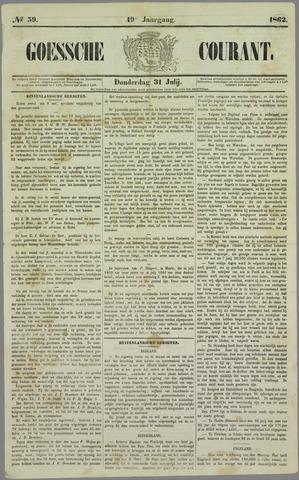 Goessche Courant 1862-07-31
