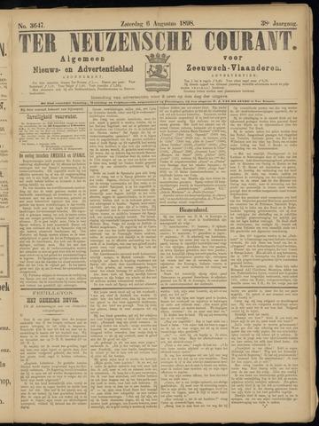 Ter Neuzensche Courant. Algemeen Nieuws- en Advertentieblad voor Zeeuwsch-Vlaanderen / Neuzensche Courant ... (idem) / (Algemeen) nieuws en advertentieblad voor Zeeuwsch-Vlaanderen 1898-08-06