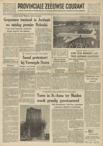 Provinciale Zeeuwse Courant 1957-04-12