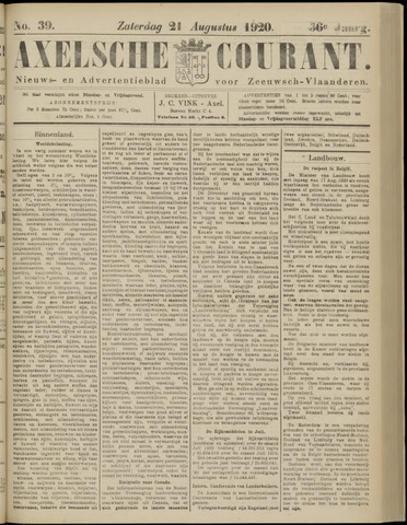 Axelsche Courant 1920-08-21