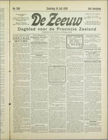 De Zeeuw. Christelijk-historisch nieuwsblad voor Zeeland 1930-07-19