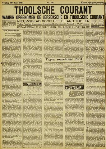 Ierseksche en Thoolsche Courant 1934-06-29