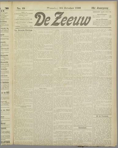 De Zeeuw. Christelijk-historisch nieuwsblad voor Zeeland 1916-10-23