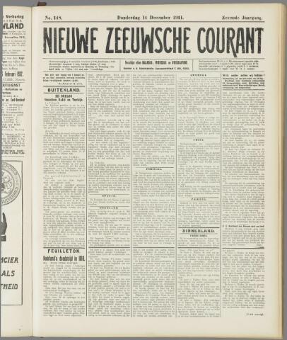 Nieuwe Zeeuwsche Courant 1911-12-14