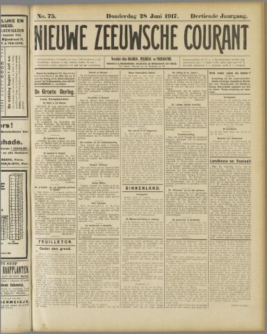 Nieuwe Zeeuwsche Courant 1917-06-28