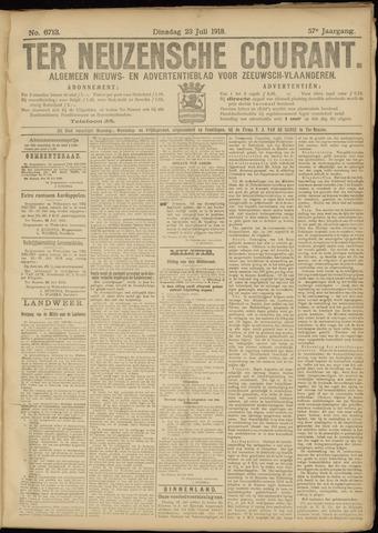 Ter Neuzensche Courant. Algemeen Nieuws- en Advertentieblad voor Zeeuwsch-Vlaanderen / Neuzensche Courant ... (idem) / (Algemeen) nieuws en advertentieblad voor Zeeuwsch-Vlaanderen 1918-07-23