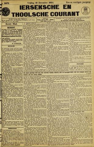 Ierseksche en Thoolsche Courant 1924-12-19