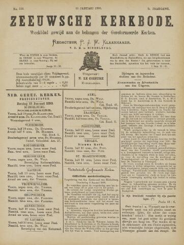 Zeeuwsche kerkbode, weekblad gewijd aan de belangen der gereformeerde kerken/ Zeeuwsch kerkblad 1890-01-11