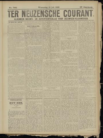 Ter Neuzensche Courant. Algemeen Nieuws- en Advertentieblad voor Zeeuwsch-Vlaanderen / Neuzensche Courant ... (idem) / (Algemeen) nieuws en advertentieblad voor Zeeuwsch-Vlaanderen 1923-07-25