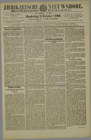 Zierikzeesche Nieuwsbode 1900-10-11