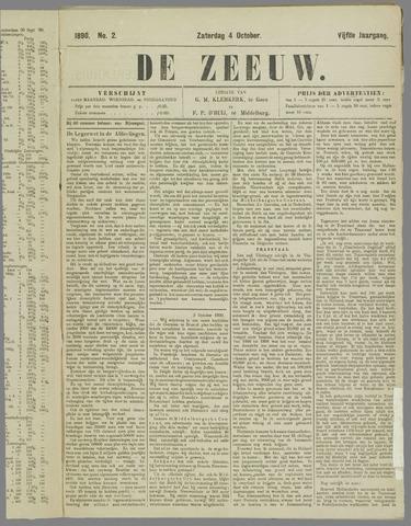 De Zeeuw. Christelijk-historisch nieuwsblad voor Zeeland 1890-10-04