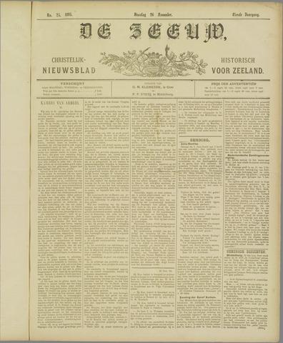 De Zeeuw. Christelijk-historisch nieuwsblad voor Zeeland 1895-11-26