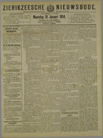 Zierikzeesche Nieuwsbode 1914-01-19