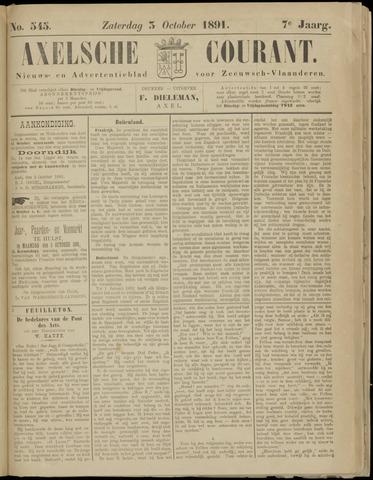Axelsche Courant 1891-10-03