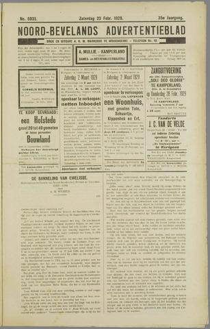 Noord-Bevelands Nieuws- en advertentieblad 1929-02-23