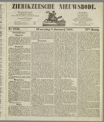 Zierikzeesche Nieuwsbode 1861-01-09