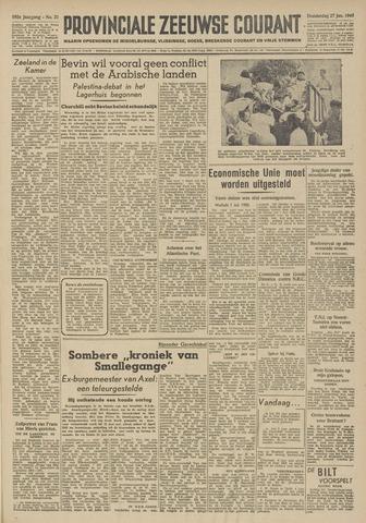 Provinciale Zeeuwse Courant 1949-01-27