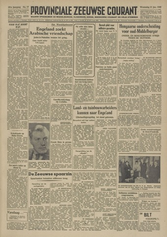 Provinciale Zeeuwse Courant 1948-01-21