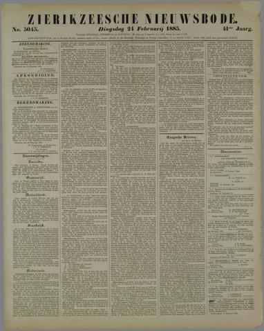 Zierikzeesche Nieuwsbode 1885-02-24