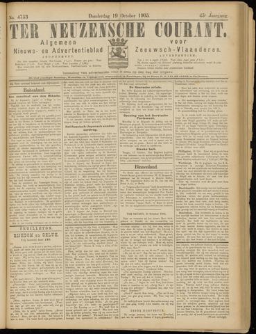 Ter Neuzensche Courant. Algemeen Nieuws- en Advertentieblad voor Zeeuwsch-Vlaanderen / Neuzensche Courant ... (idem) / (Algemeen) nieuws en advertentieblad voor Zeeuwsch-Vlaanderen 1905-10-19