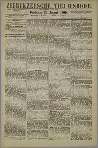 Zierikzeesche Nieuwsbode 1900-01-25