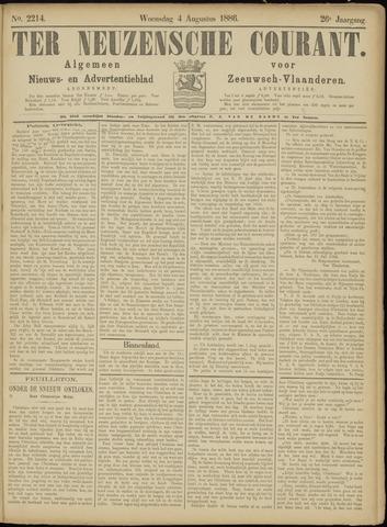 Ter Neuzensche Courant. Algemeen Nieuws- en Advertentieblad voor Zeeuwsch-Vlaanderen / Neuzensche Courant ... (idem) / (Algemeen) nieuws en advertentieblad voor Zeeuwsch-Vlaanderen 1886-08-04