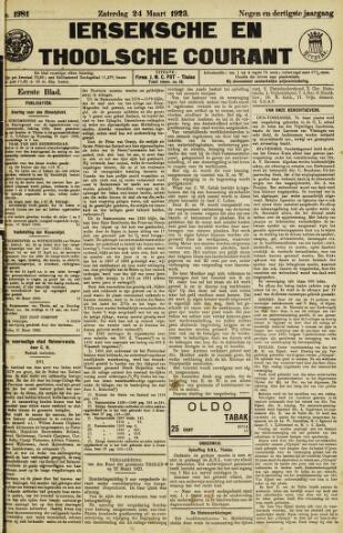 Ierseksche en Thoolsche Courant 1923-03-24