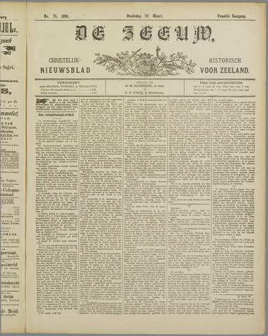 De Zeeuw. Christelijk-historisch nieuwsblad voor Zeeland 1898-03-24