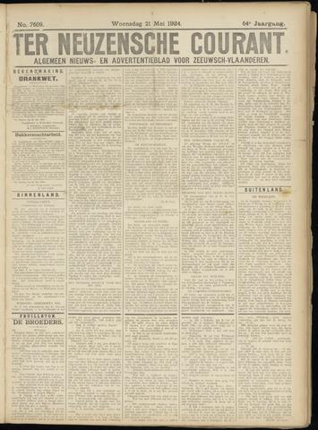 Ter Neuzensche Courant. Algemeen Nieuws- en Advertentieblad voor Zeeuwsch-Vlaanderen / Neuzensche Courant ... (idem) / (Algemeen) nieuws en advertentieblad voor Zeeuwsch-Vlaanderen 1924-05-21