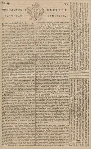 Middelburgsche Courant 1785-04-09