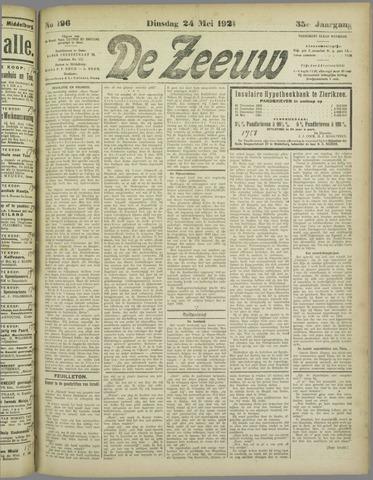 De Zeeuw. Christelijk-historisch nieuwsblad voor Zeeland 1921-05-24