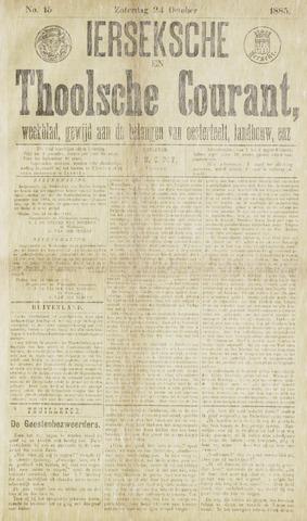 Ierseksche en Thoolsche Courant 1885-10-24