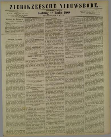 Zierikzeesche Nieuwsbode 1889-10-17
