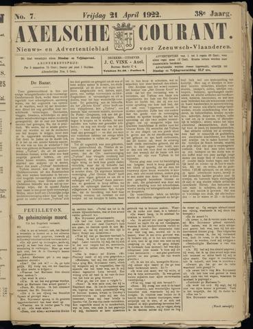 Axelsche Courant 1922-04-21