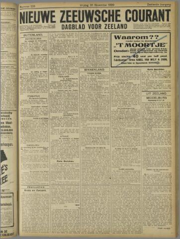 Nieuwe Zeeuwsche Courant 1920-11-26