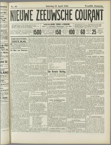 Nieuwe Zeeuwsche Courant 1916-04-22