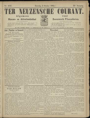 Ter Neuzensche Courant. Algemeen Nieuws- en Advertentieblad voor Zeeuwsch-Vlaanderen / Neuzensche Courant ... (idem) / (Algemeen) nieuws en advertentieblad voor Zeeuwsch-Vlaanderen 1885-10-03