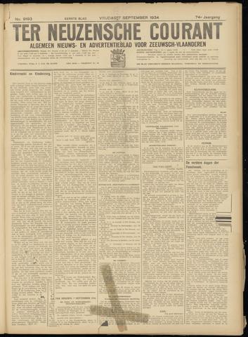 Ter Neuzensche Courant. Algemeen Nieuws- en Advertentieblad voor Zeeuwsch-Vlaanderen / Neuzensche Courant ... (idem) / (Algemeen) nieuws en advertentieblad voor Zeeuwsch-Vlaanderen 1934-09-07