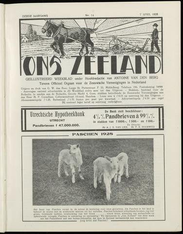 Ons Zeeland / Zeeuwsche editie 1928-04-07