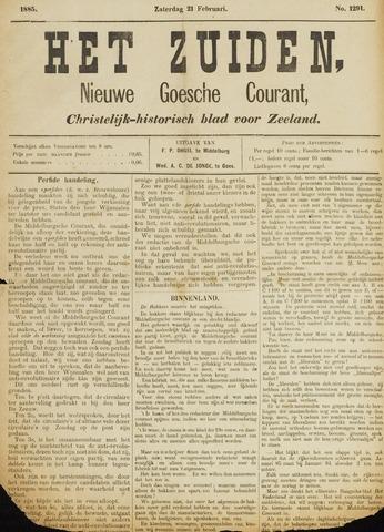 Het Zuiden, Christelijk-historisch blad 1885-02-21
