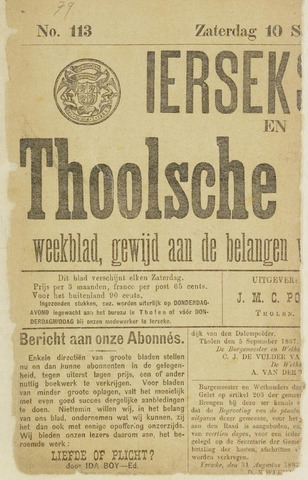Ierseksche en Thoolsche Courant 1887-09-10
