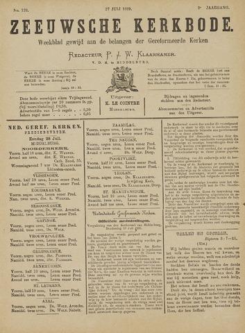 Zeeuwsche kerkbode, weekblad gewijd aan de belangen der gereformeerde kerken/ Zeeuwsch kerkblad 1889-07-27