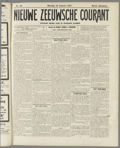Nieuwe Zeeuwsche Courant 1907-01-22