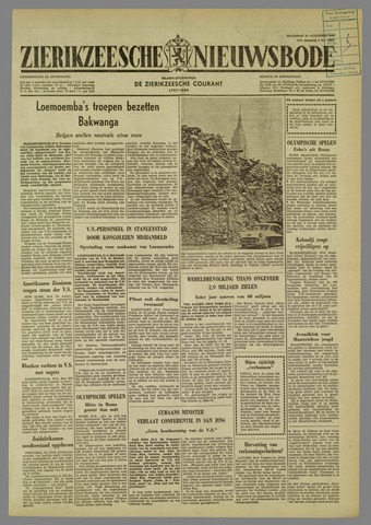 Zierikzeesche Nieuwsbode 1960-08-29