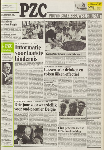 Provinciale Zeeuwse Courant 1986-06-26